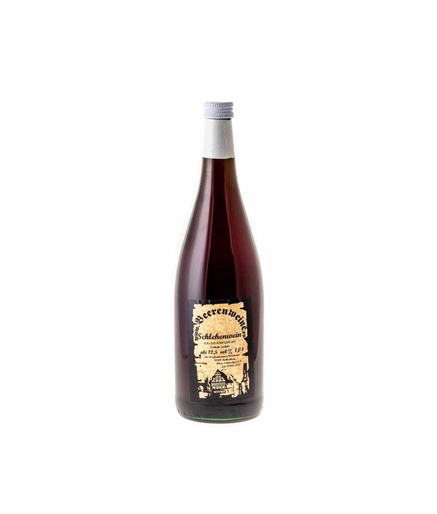 Schlehenwein 1,0 Liter Flasche