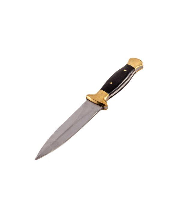 Stiefeldolch mit schwarzem Horngriff