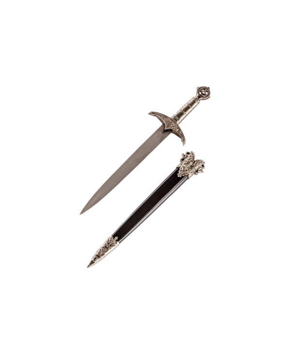 Kurzer Dolch Robin Hood mit schwarzer Scheide