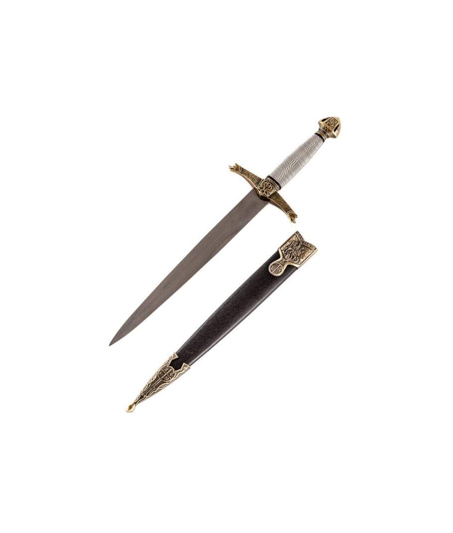 Dolch Lancelot mit schwarzer Scheide