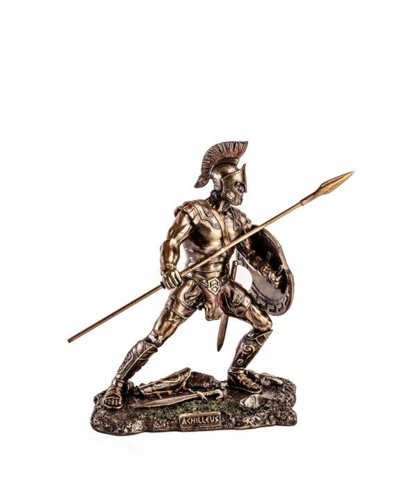 Achilles mit Schild und Speer seitlich