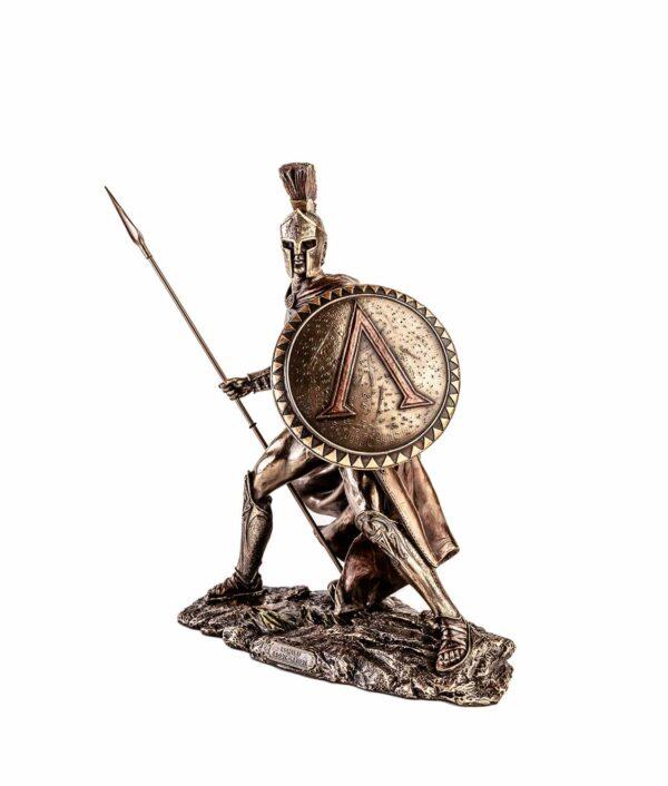 Leonidas mit Speer und Schild angreifend