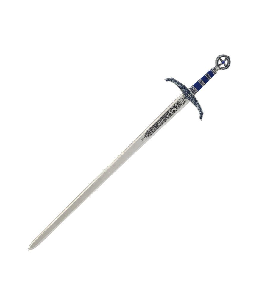 Schwert Robin Hood mit verzierter Klinge.