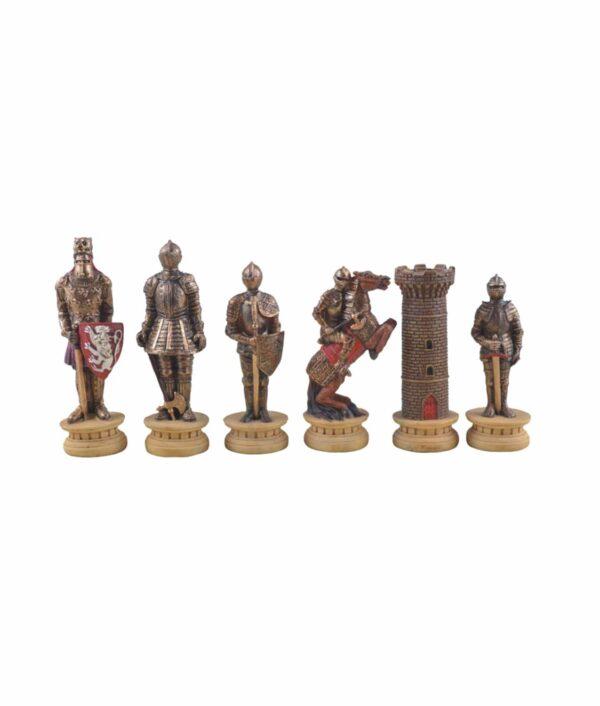 Ritter Schachfiguren gold silber.