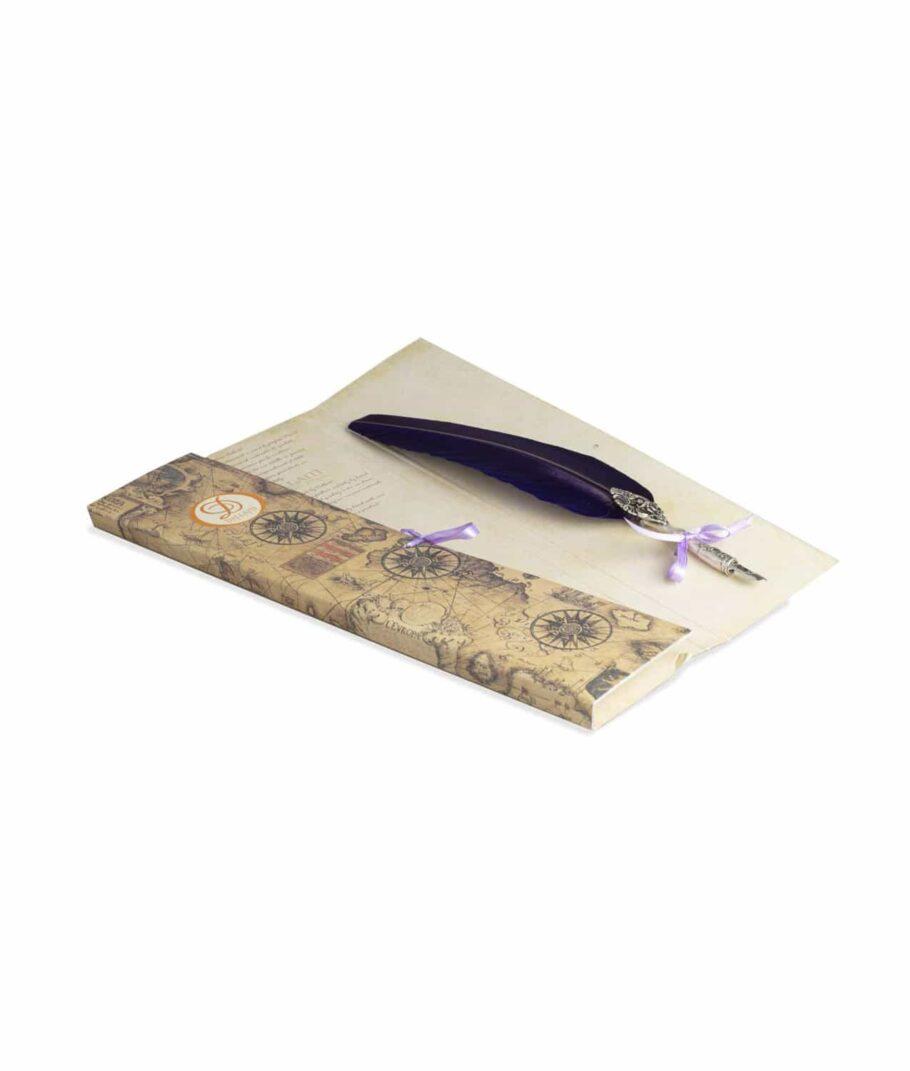 Schreibfeder Engel in violett.
