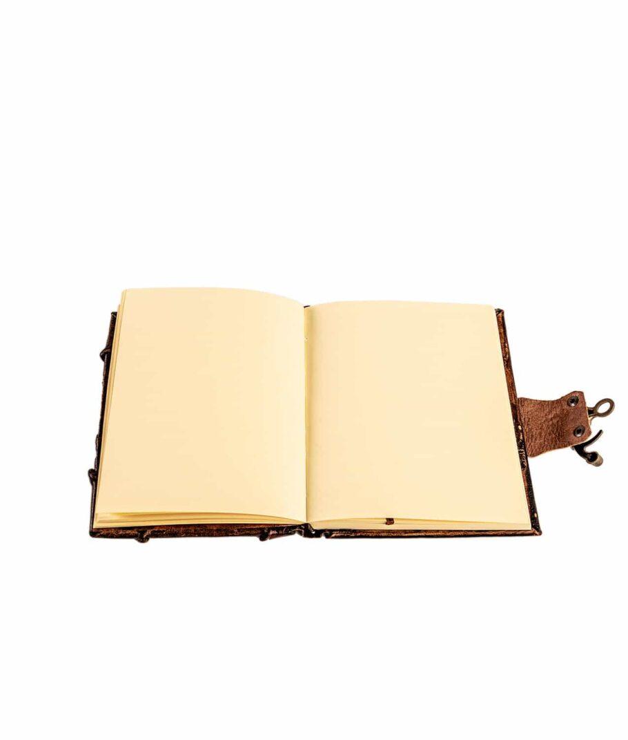 Geöffnetes Buch mit unlinierten Seiten.
