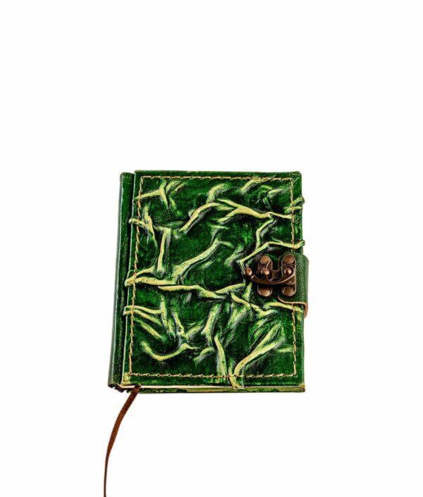 Lederbuch klein in grün.
