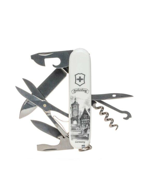 Climber Taschenmesser in schwarz weiß mit dem Motiv des Plönlein.