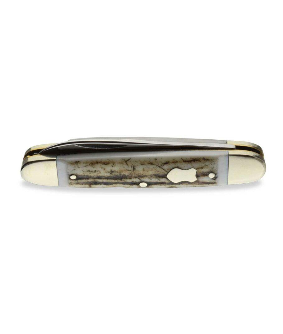 Hartkopf Taschenmesser mit Hirschhorn geschlossen