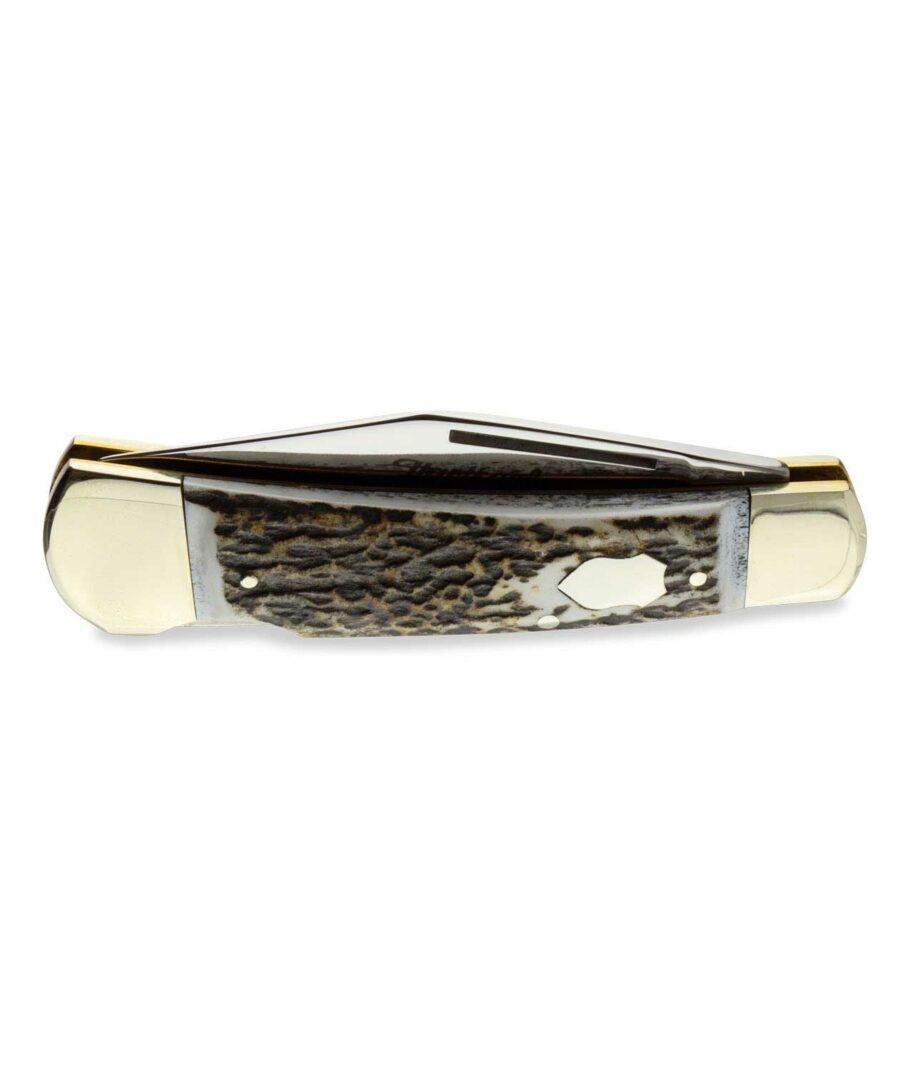 Hartkopf Taschenmesser mit Hirschorn geschlossen.