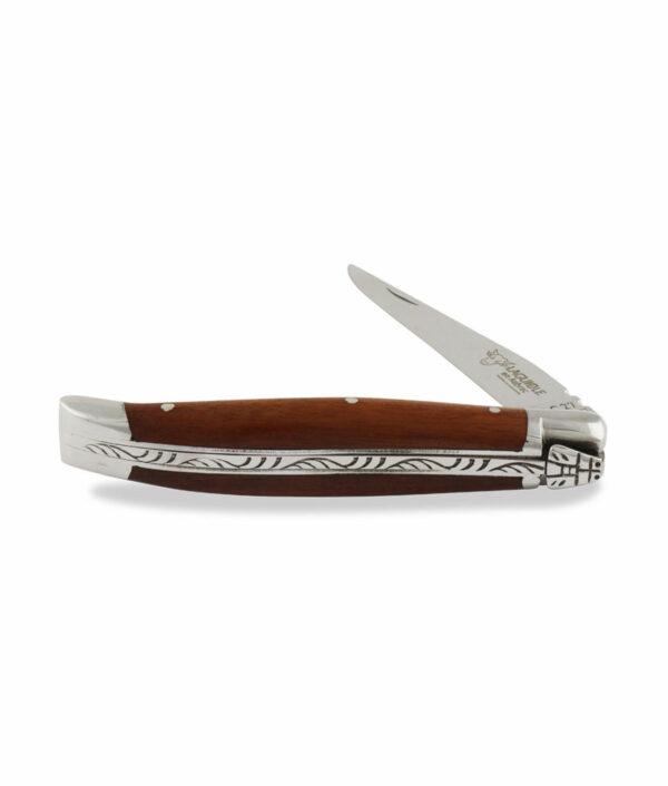 Laguiole en Aubrac Taschenmesser halboffen aus Amourette und Edelstahl matt