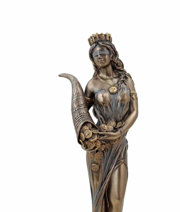 Römische Göttin Fortuna, die Göttin des Glücks mit Füllhorn Gesicht