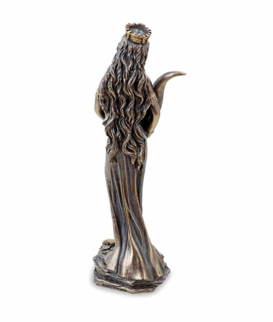 Römische Göttin Fortuna, die Göttin des Glücks mit Füllhorn Rückseitete
