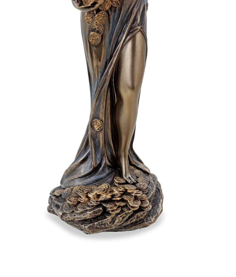 Römische Göttin Fortuna, die Göttin des Glücks mit Füllhorn Sockel