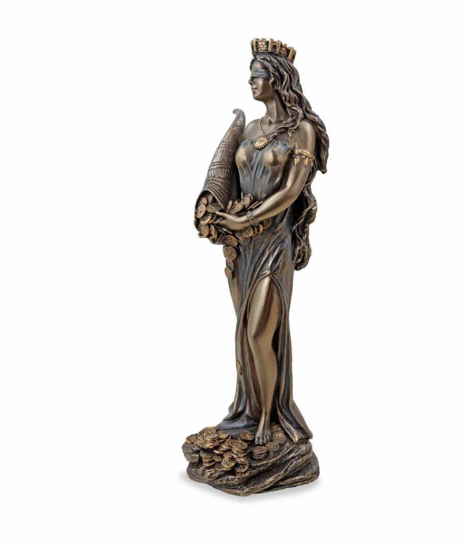 Römische Göttin Fortuna, die Göttin des Glücks mit Füllhorn linke Seite