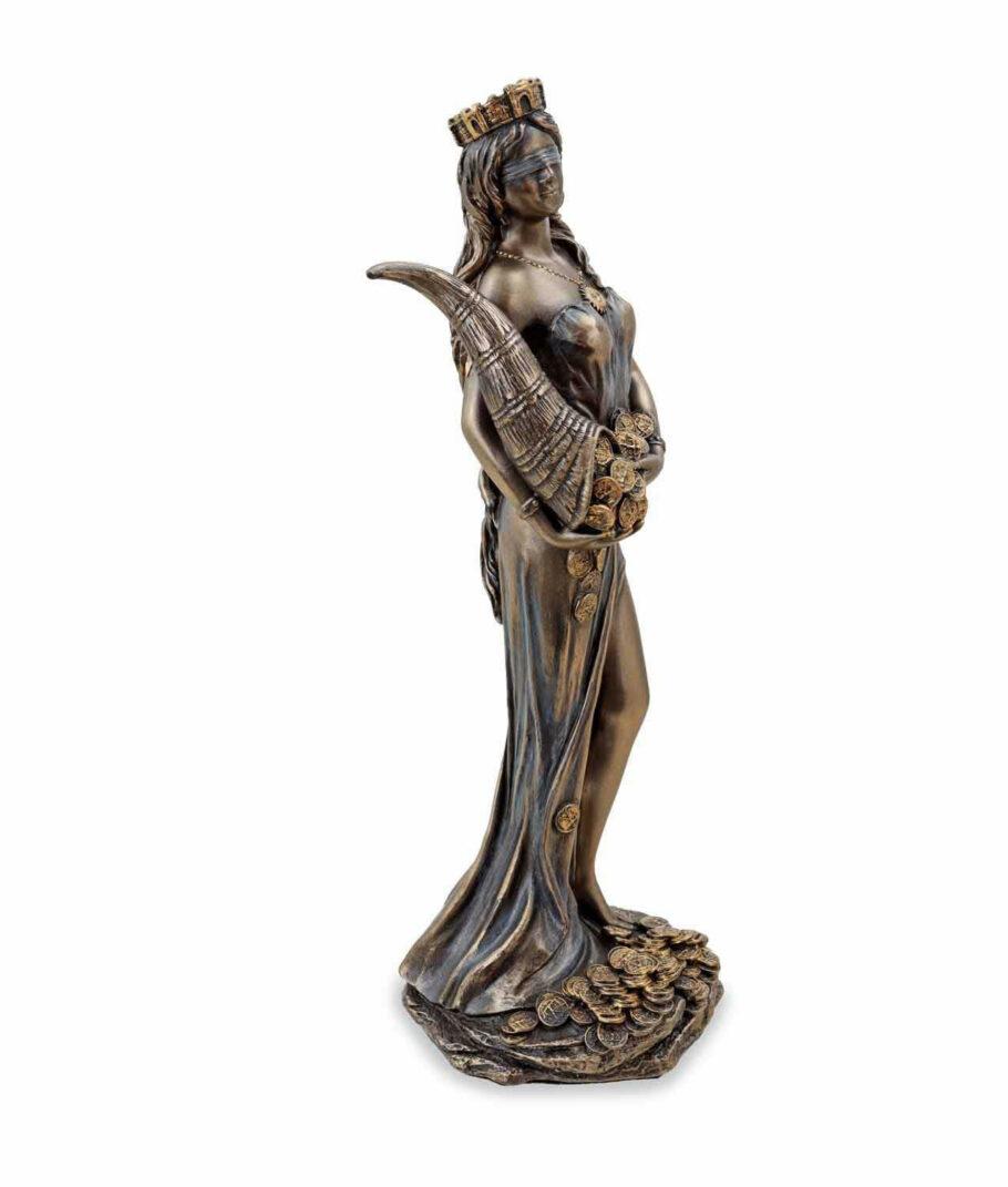 Römische Göttin Fortuna, die Göttin des Glücks mit Füllhorn rechte Seite