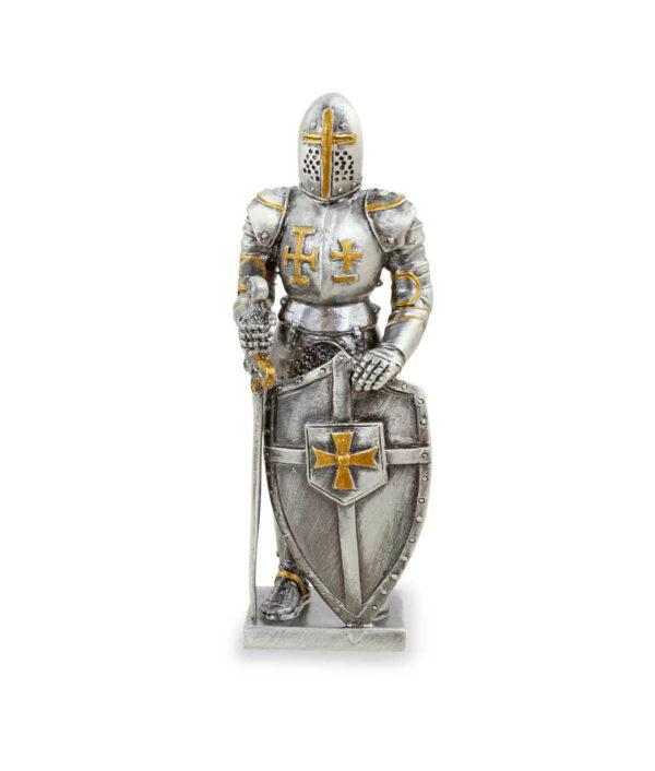 Templer-Zinnritter mit Schild und Schwert