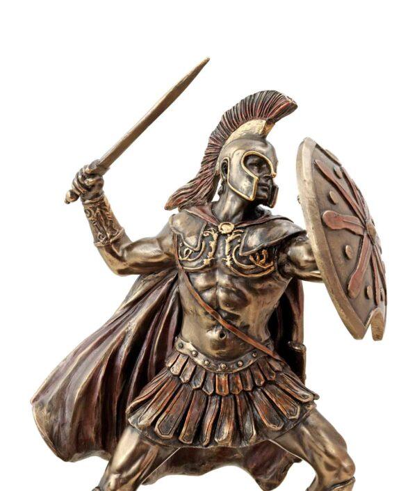 Achilles Figur bronziert Gesicht