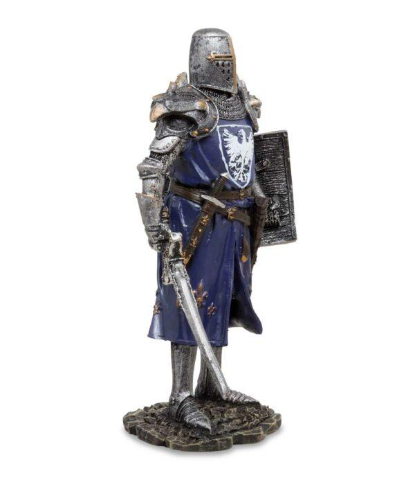 Deutscher Ritter in Adlerrüstung von rechts