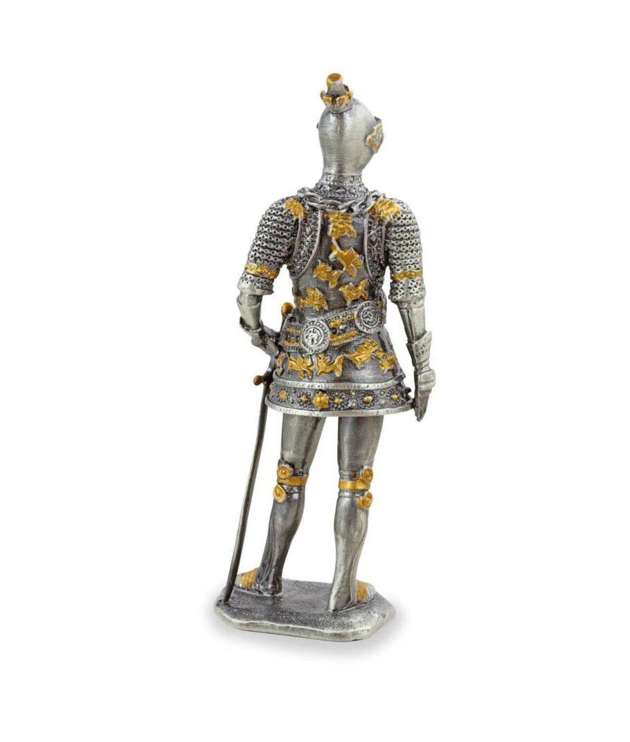 Deutscher Zinnritter mit Schwert Rückseite