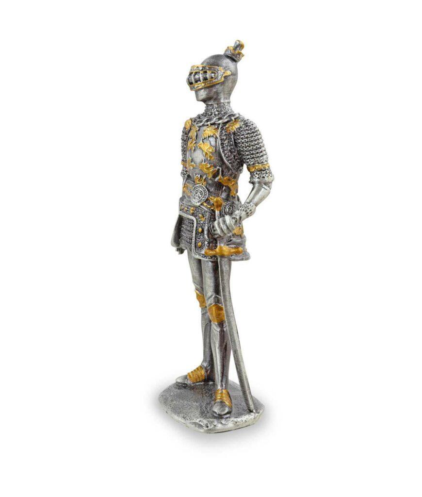 Deutscher Zinnritter mit Schwert linke Seite
