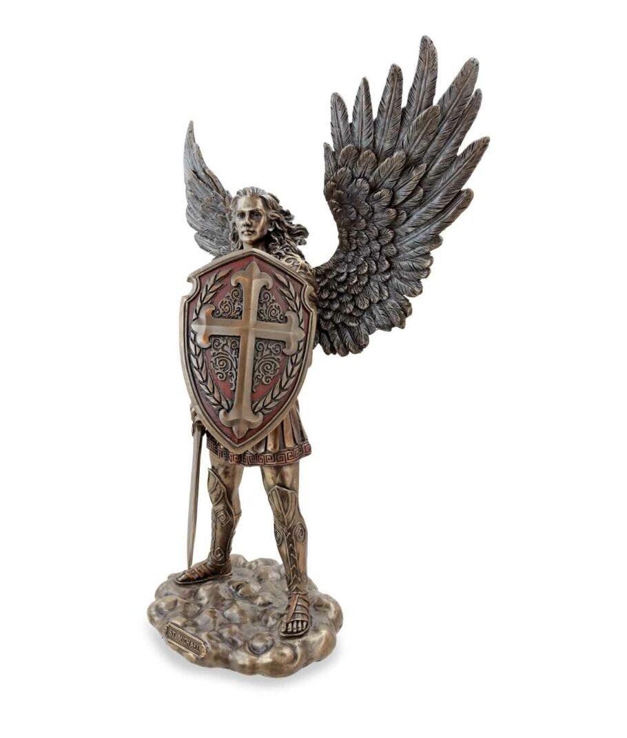 Erzengel Michael mit Schwert und Schild linke Seite