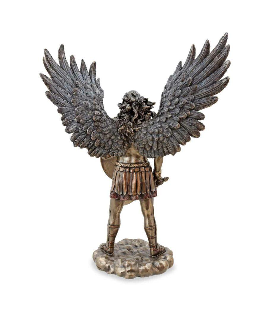 Erzengel Michael mit Schwert und Schild Rückseite