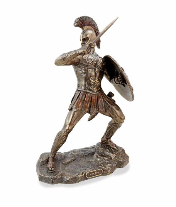 Hector, der trojanische Prinz mit Schwert, bronziert