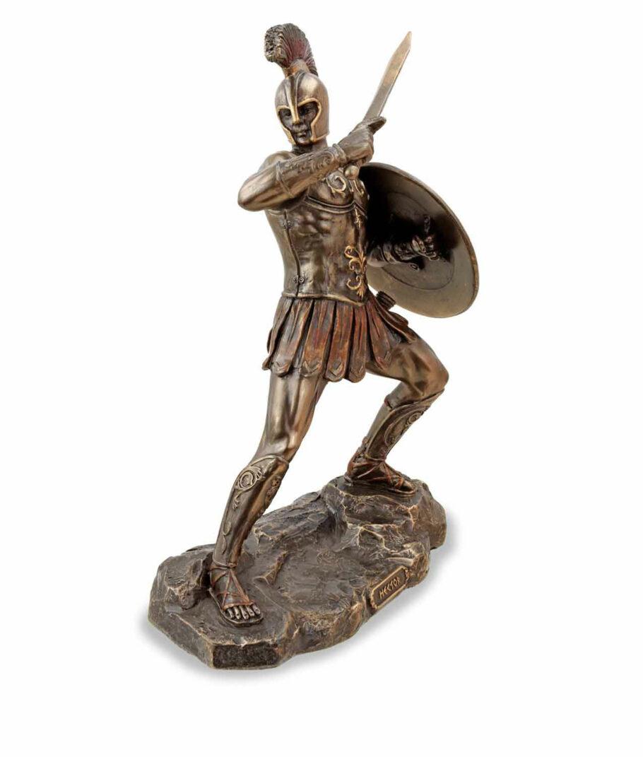 Hector, der trojanische Prinz mit Schwert, bronziert, rechte Seite