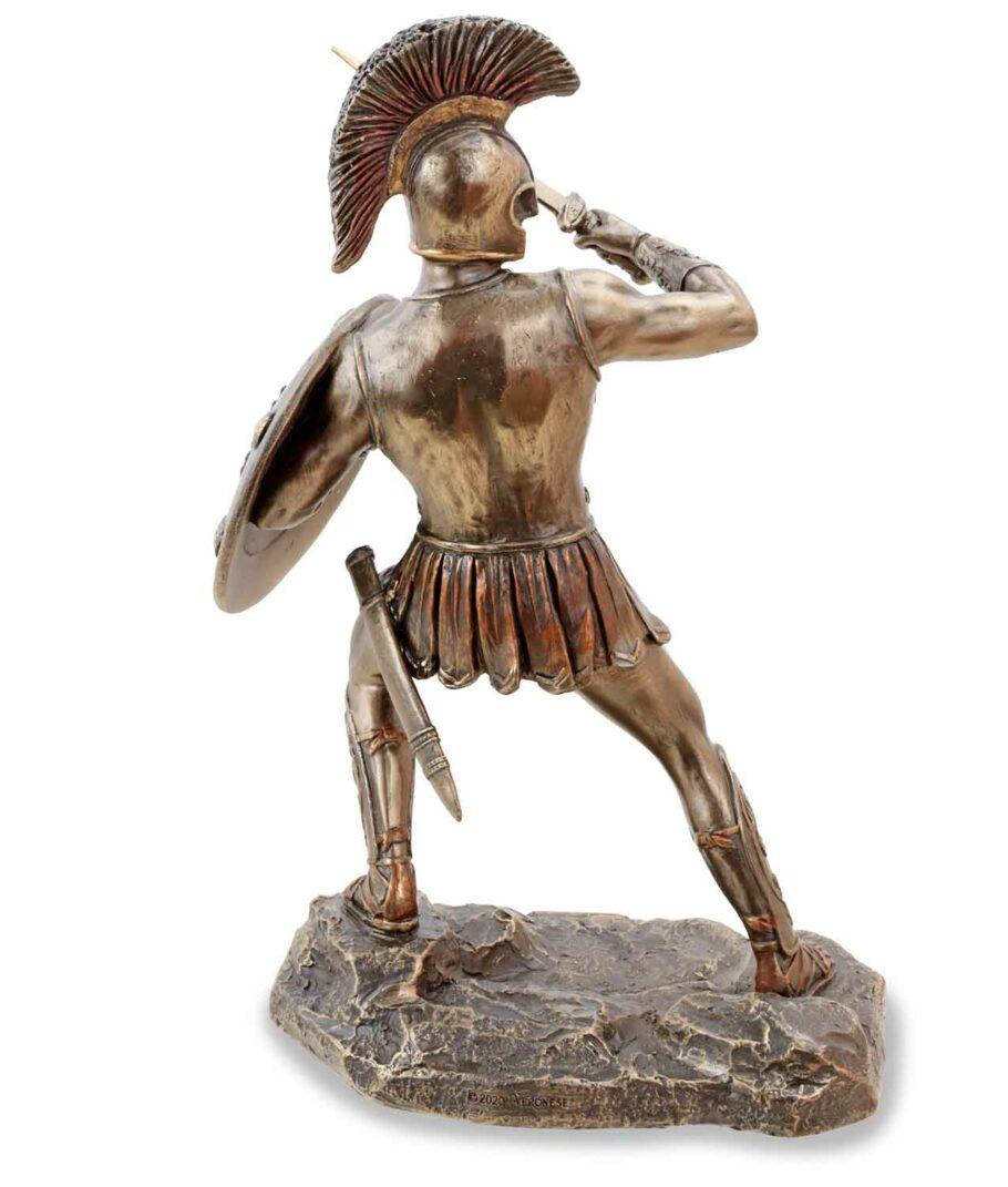 Hector, der trojanische Prinz mit Schwert, bronziert, Rückseite
