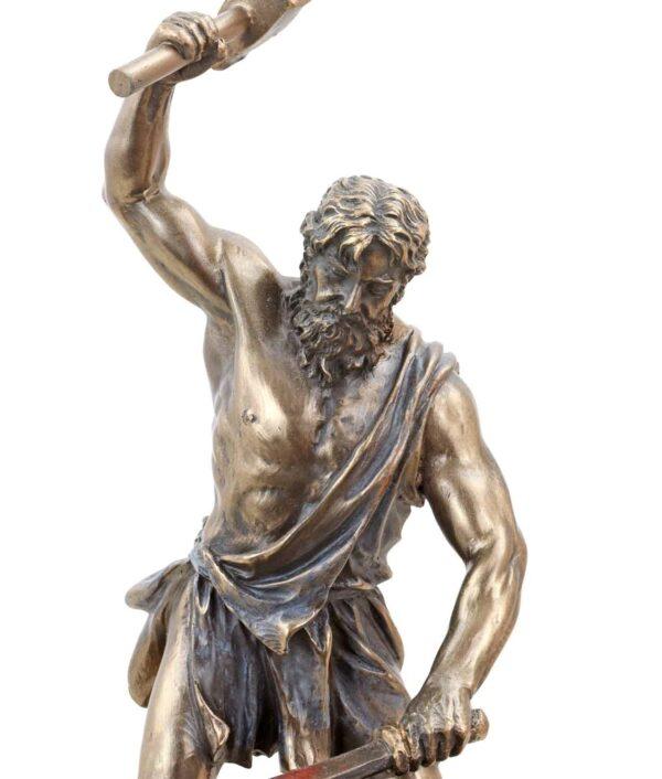Hephaistos, der griechische Gott des Feuers und der Schmiedekunst Gesicht