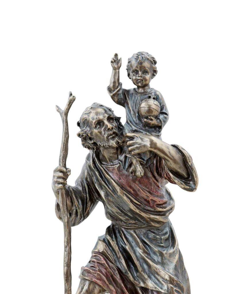 Heiliger Christophorus trägt Christus Gesichter