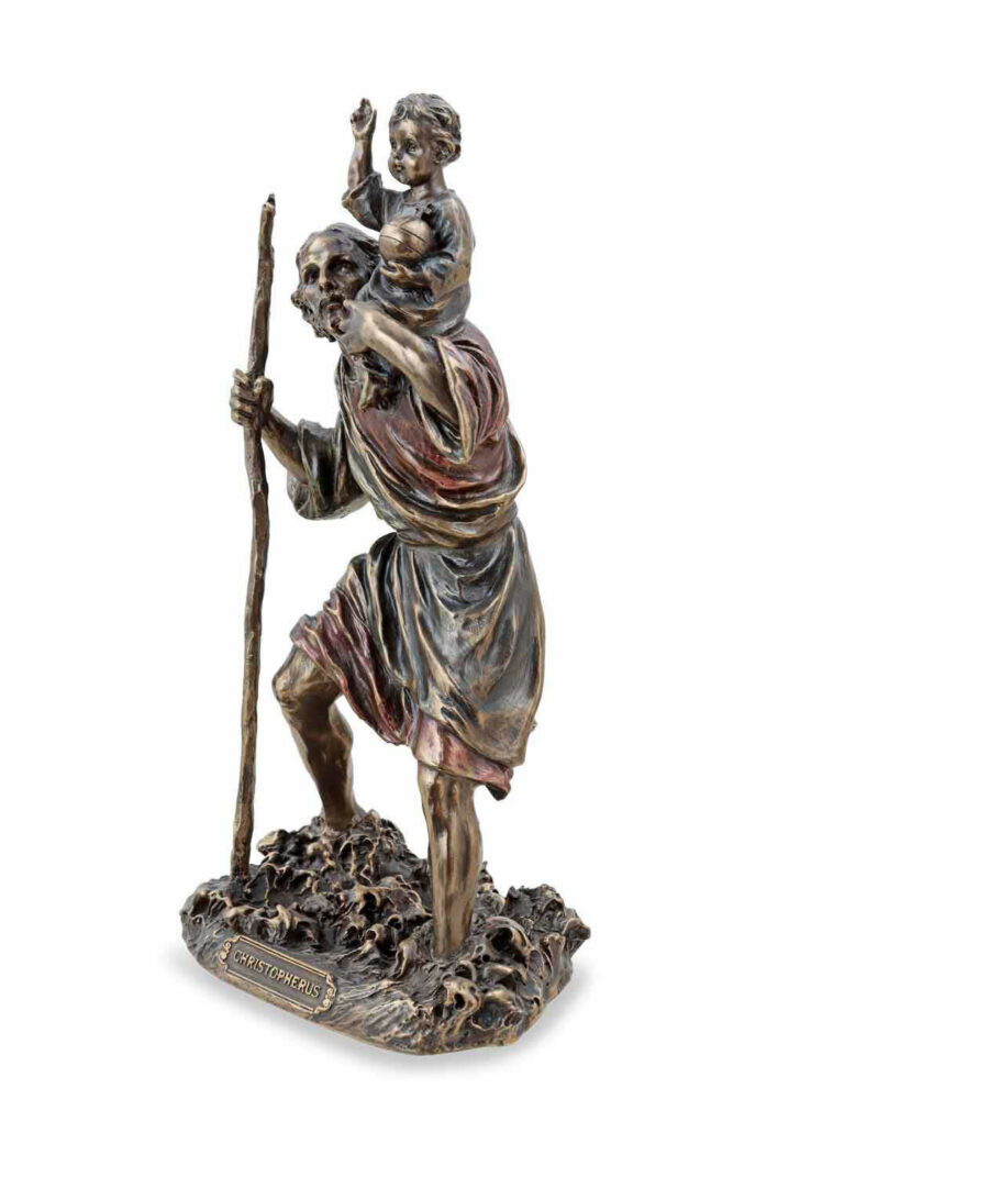 Heiliger Christophorus trägt Christus linke Seite