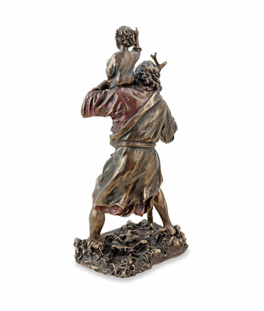 Heiliger Christophorus trägt Christus Rückseite