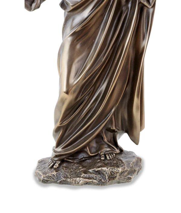Jesus der Prediger, bronziert, Sockel