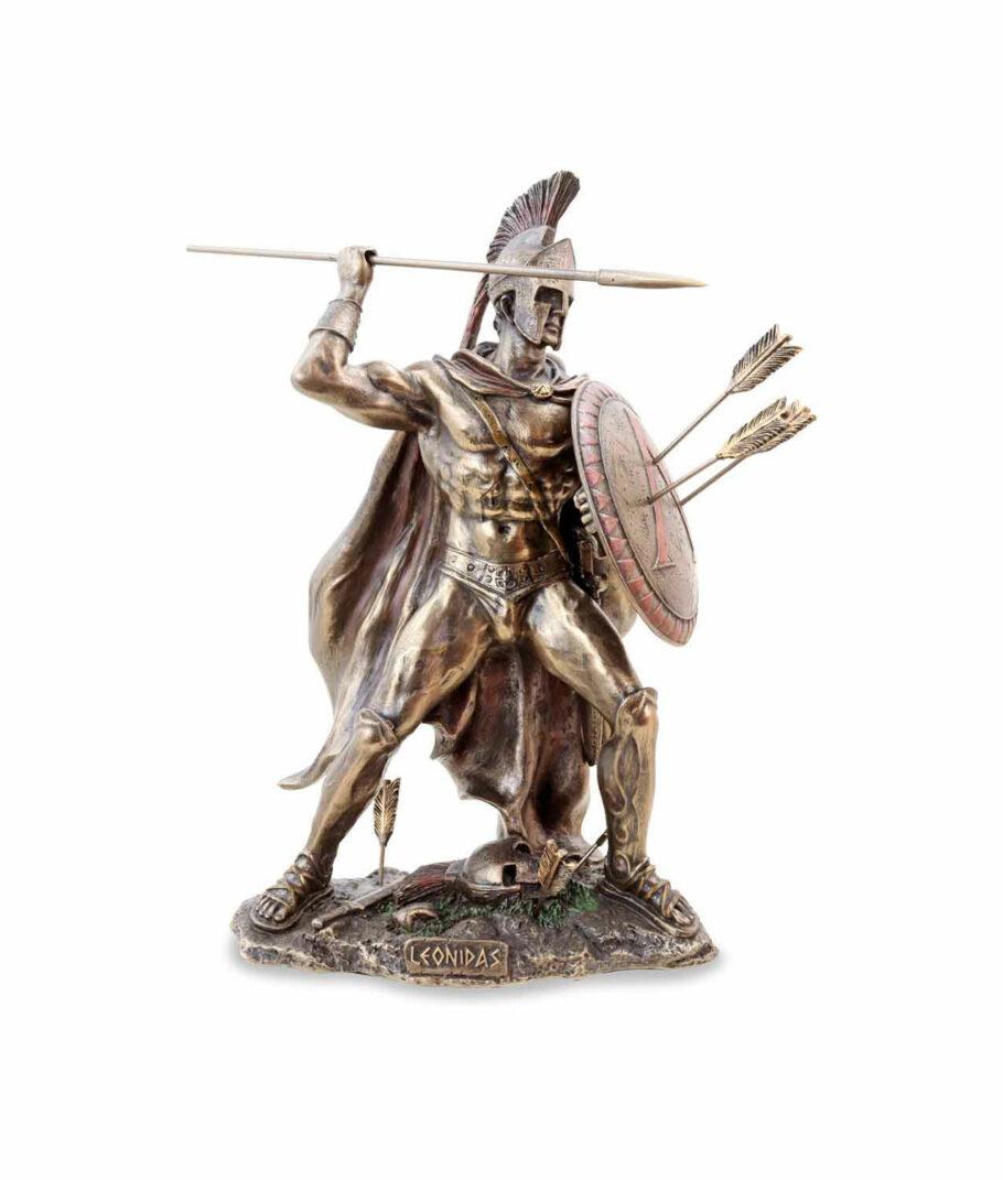 Kämpfender Leonidas mit Speer und Schild