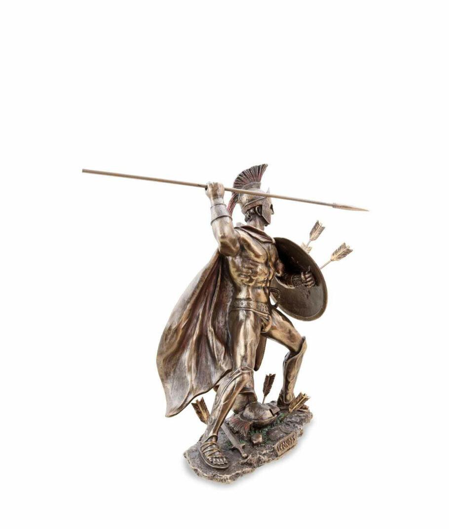 Kämpfender Leonidas mit Speer und Schild rechte Seite