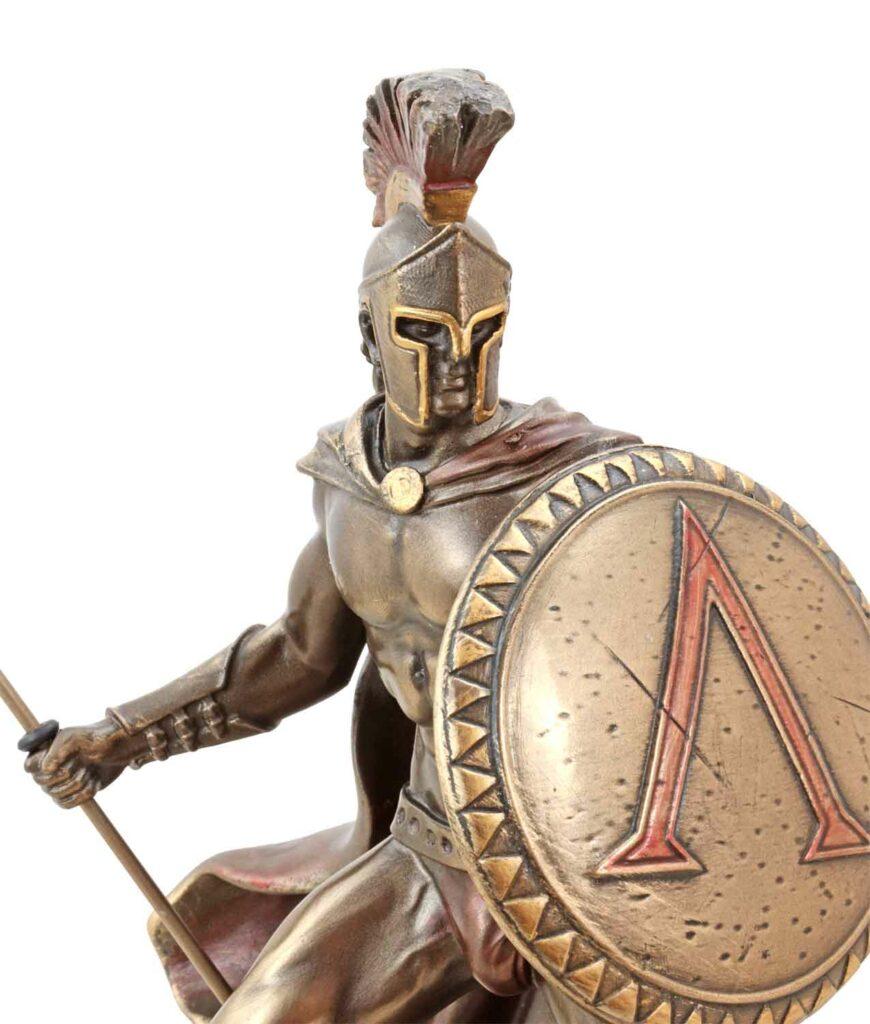 Leonidas mit Schild und Speer Gesicht