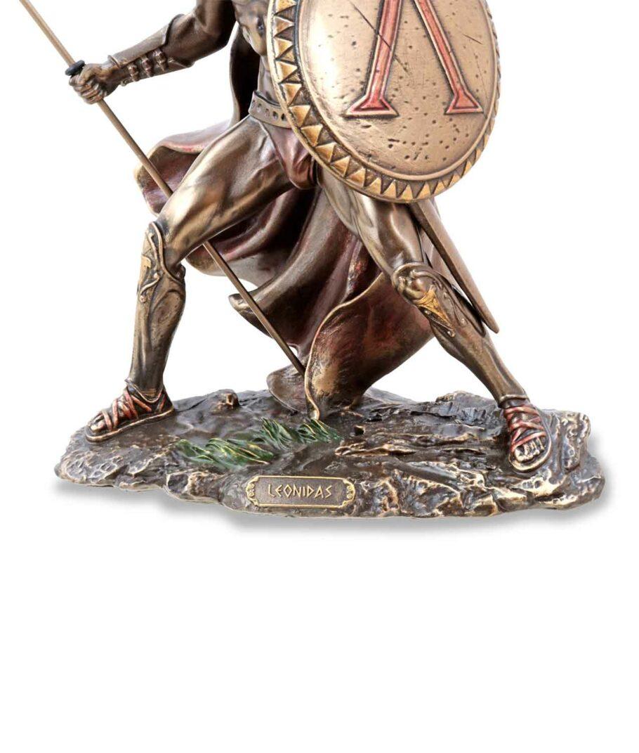 Leonidas mit Schild und Speer Sockel