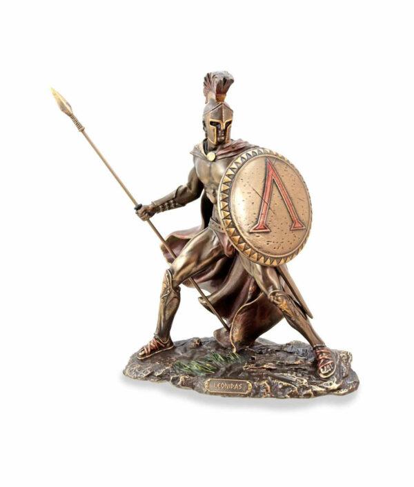 Leonidas mit Schild und Speer