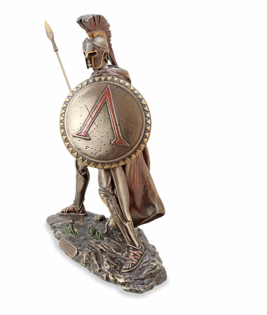 Leonidas mit Schild und Speer linke Seite