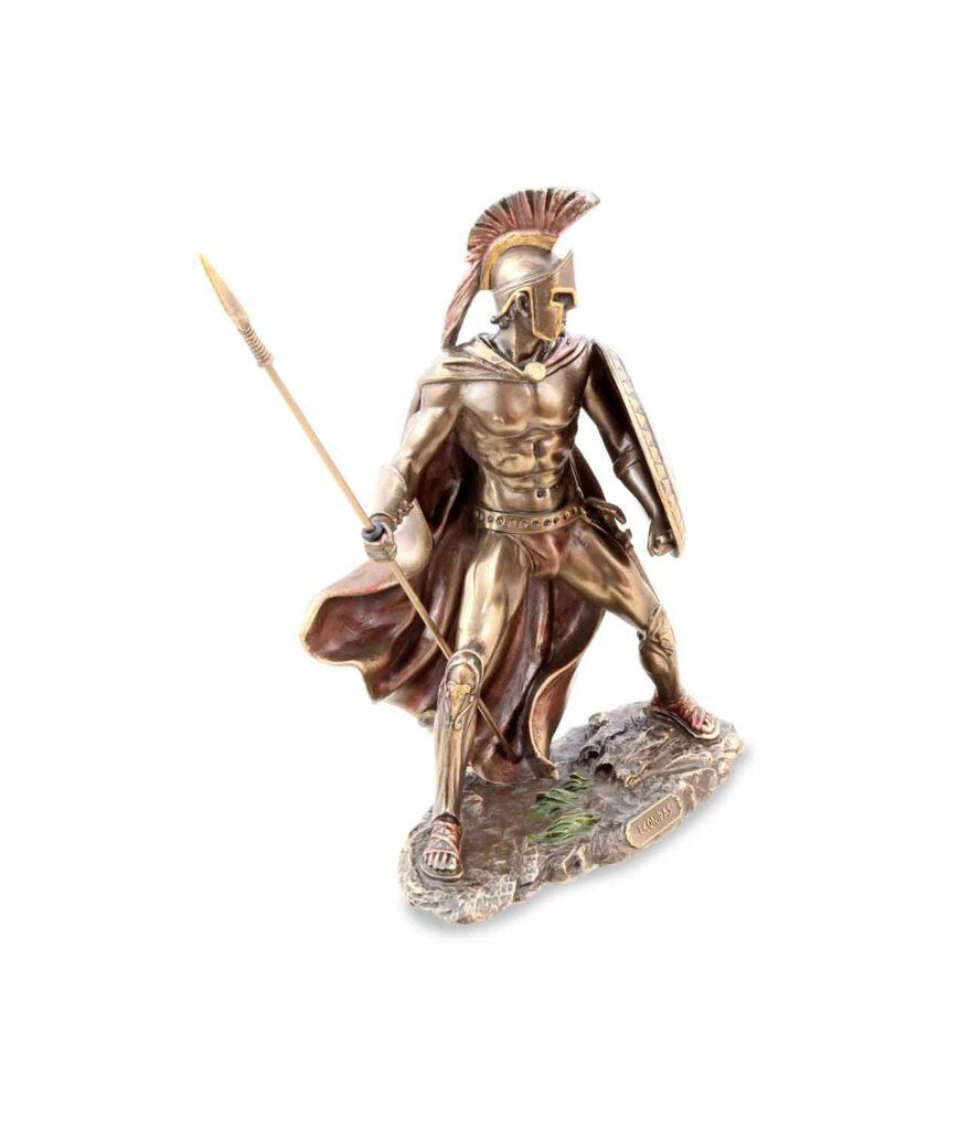 Leonidas mit Schild und Speer rechteSeite