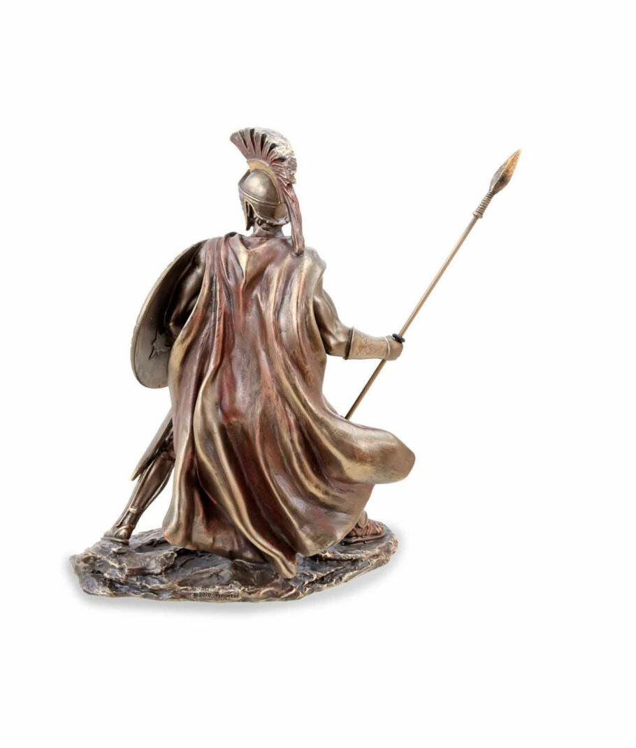 Leonidas mit Schild und Speer Rücken