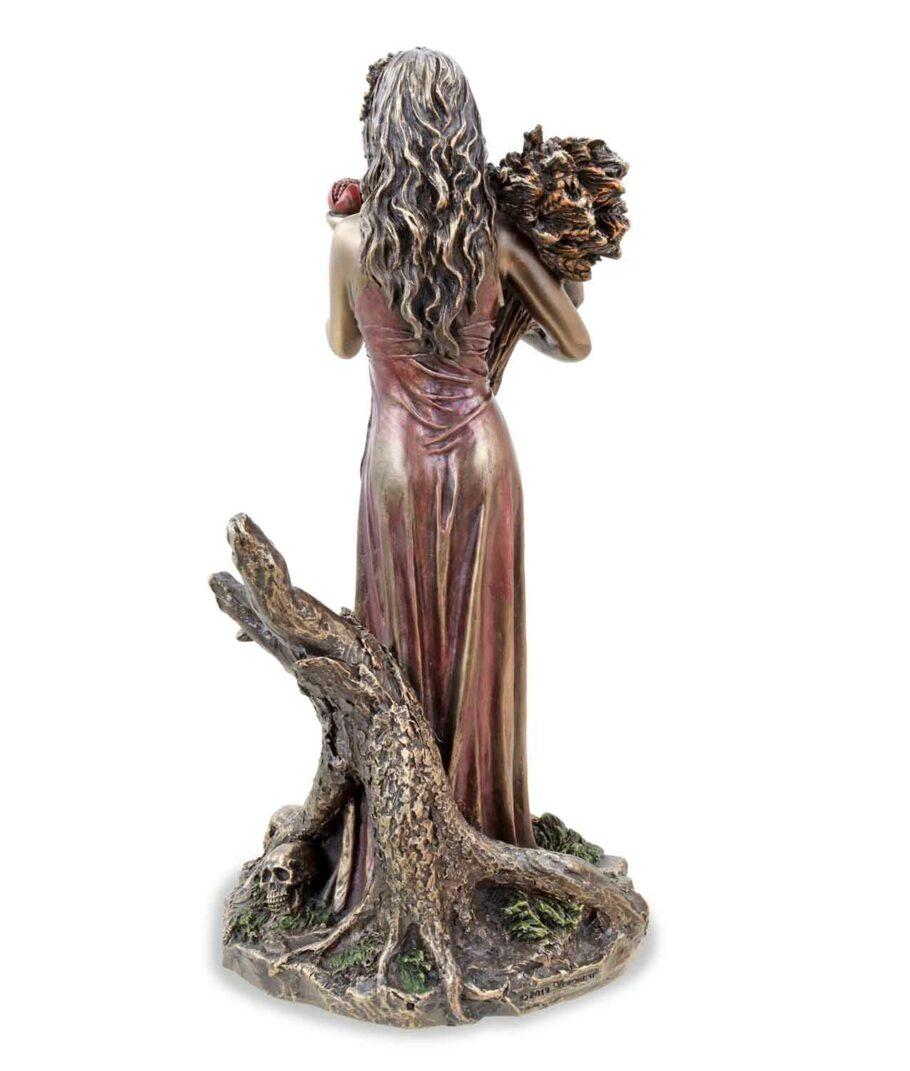 Griechische Göttin der Unterwelt Persephone Rückansicht