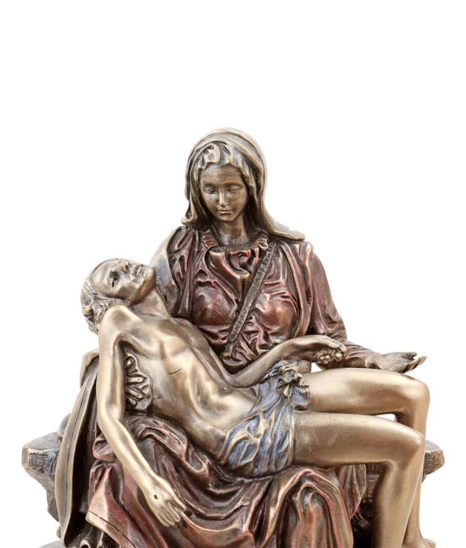Pieta - Maria mit Jesus bronziert Gesicht