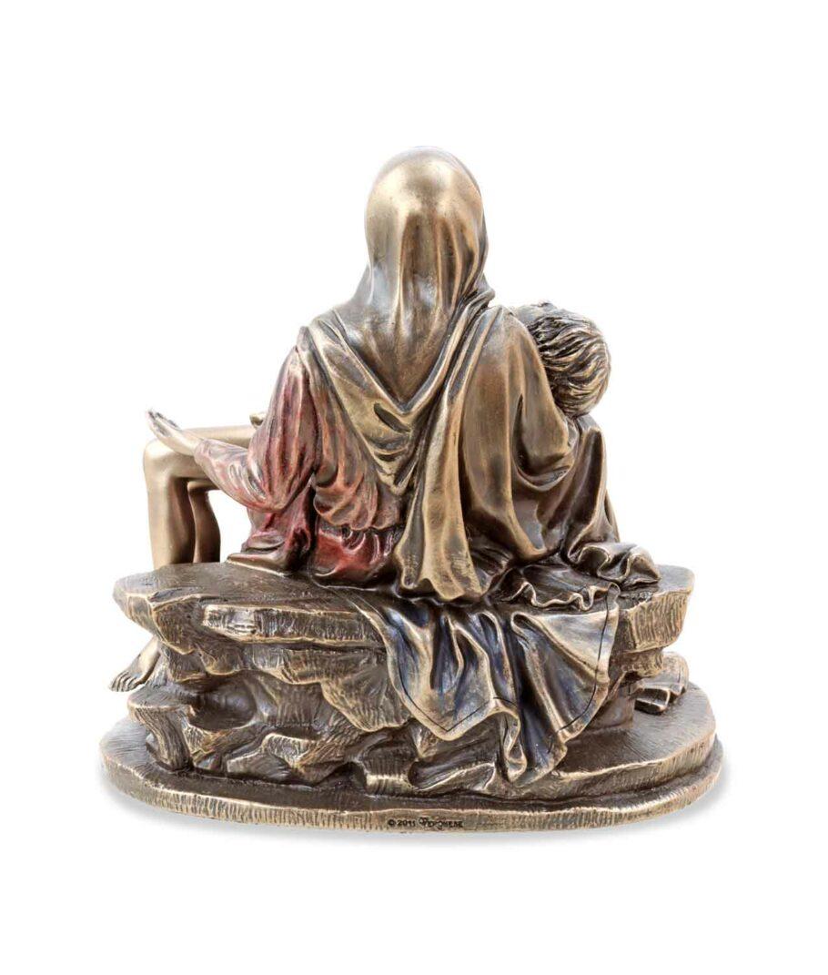 Pieta - Maria mit Jesus bronziert Rückseite