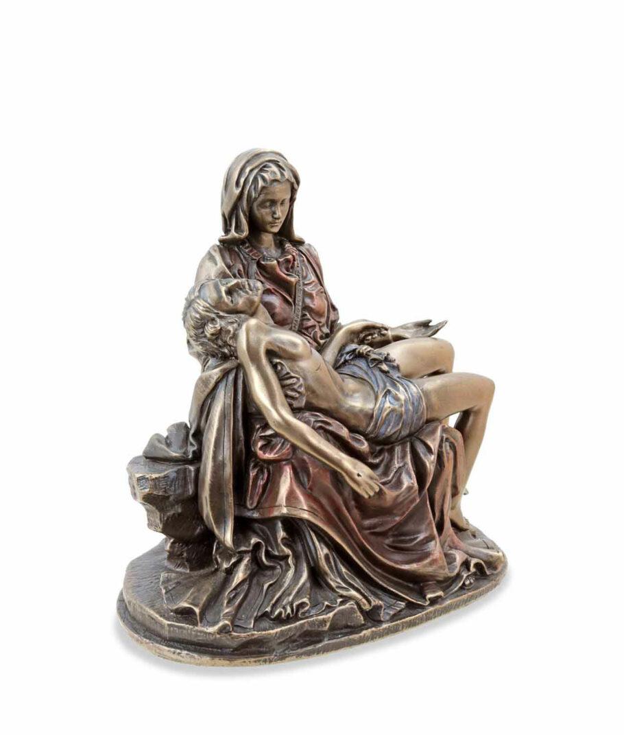 Pieta - Maria mit Jesus bronziert rechte Seite