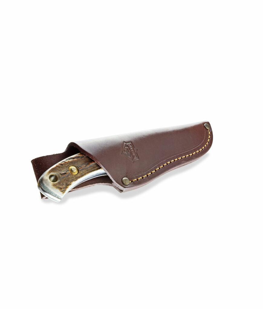 Puma Skinmaster II Integralmesser in Lederscheide