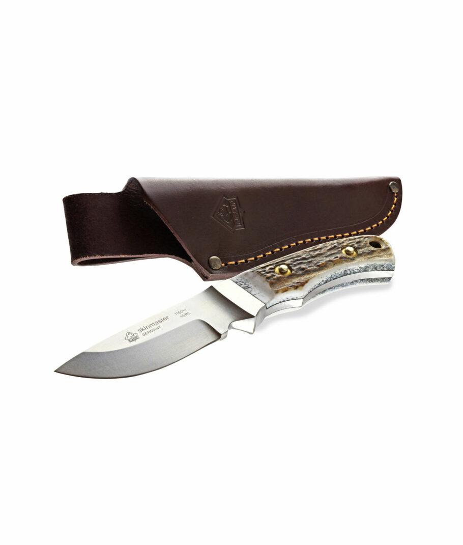Puma Skinmaster II Integralmesser mit Lederscheide