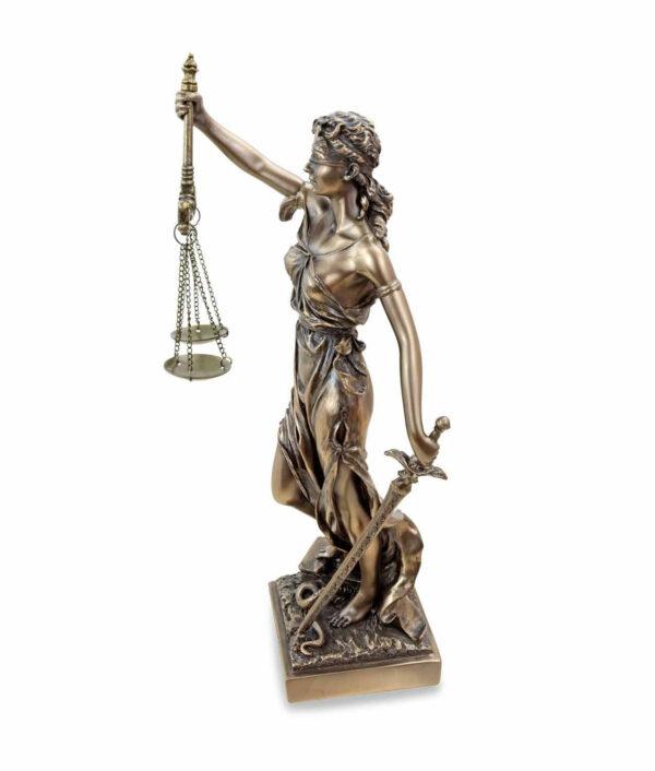 Römische Justitia mit Waage und Schwert linke Seite